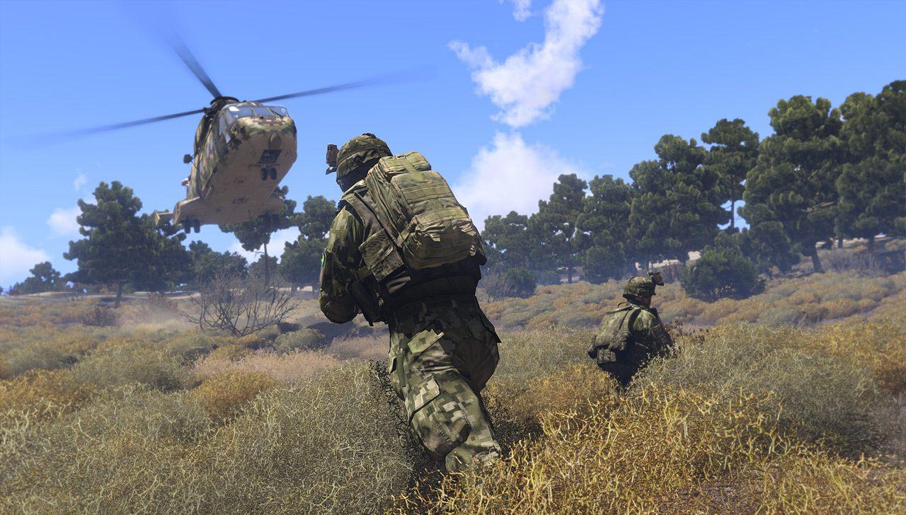 Arma 3, une simulation d'infanterie qui attire beaucoup de moddeurs.