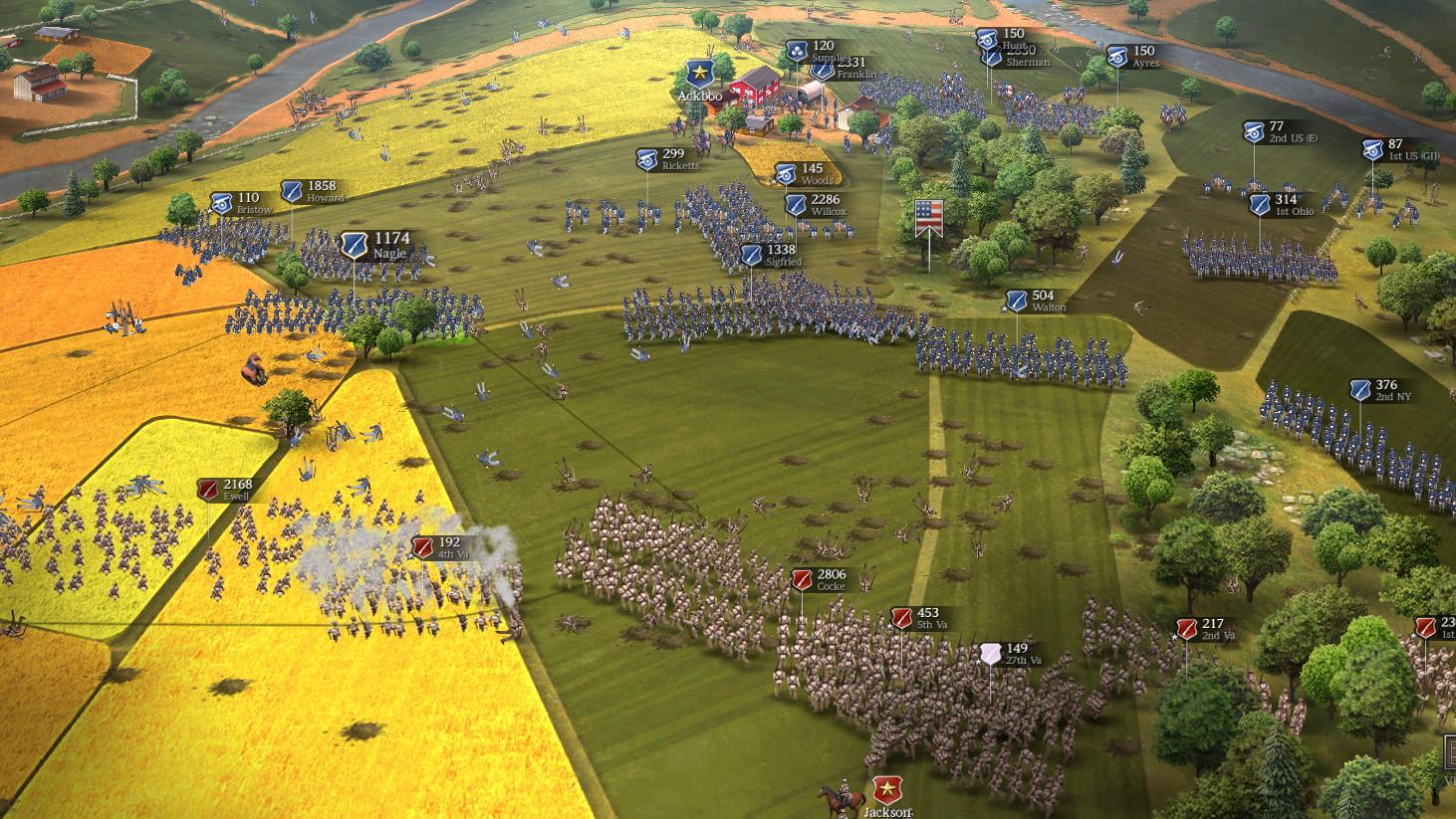 Comme dans les tout premiers Total War, les soldats sont de minuscules sprites 2D. Visuellement ça passe très bien, et le jeu est impeccablement fluide.