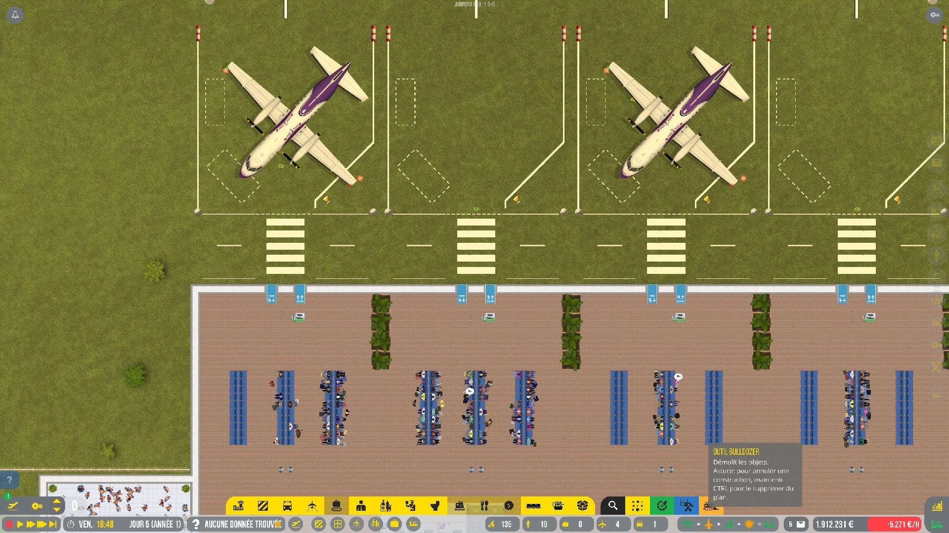 Oui, graphiquement, c'est brutal. À côté, Sim Airport et ses persos en pixel art ressemble à une superproduction Pixar.