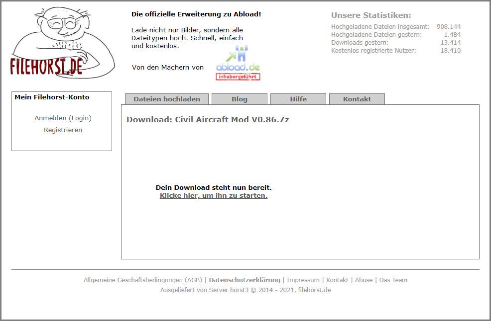 """Le modding de DCS, c'est aussi l'occasion de télécharger des fichiers de 2 Go depuis des machins d'hébergement allemands qui vous disent que """"Dein Download steht nun bereit""""."""