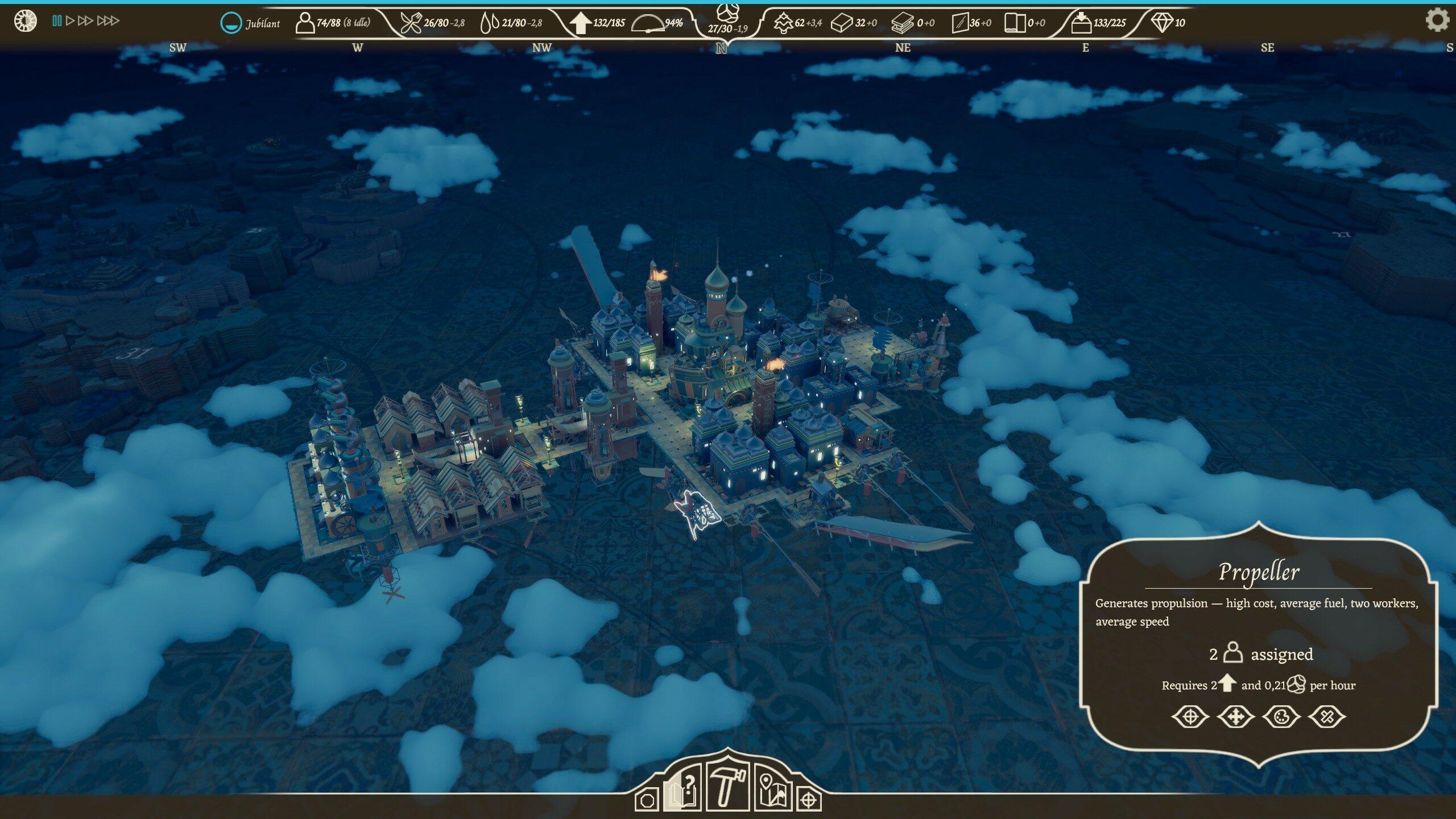 Un royaume de milieu de partie d'environ 90 habitants. Il faudra encore l'étendre un peu pour atteindre le seuil ultime des 150 habitants.