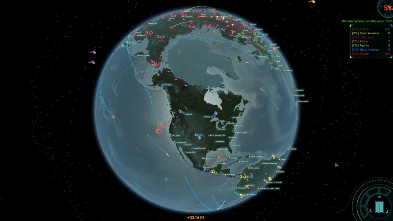 Le jeu de base permet des affrontements entre continents, mais vous trouverez, parmi les nombreux mods déjà disponibles pour le jeu, des cartes plus « historiques » proposant, par exemple, des guerres nucléaires OTAN/pacte de Varsovie.