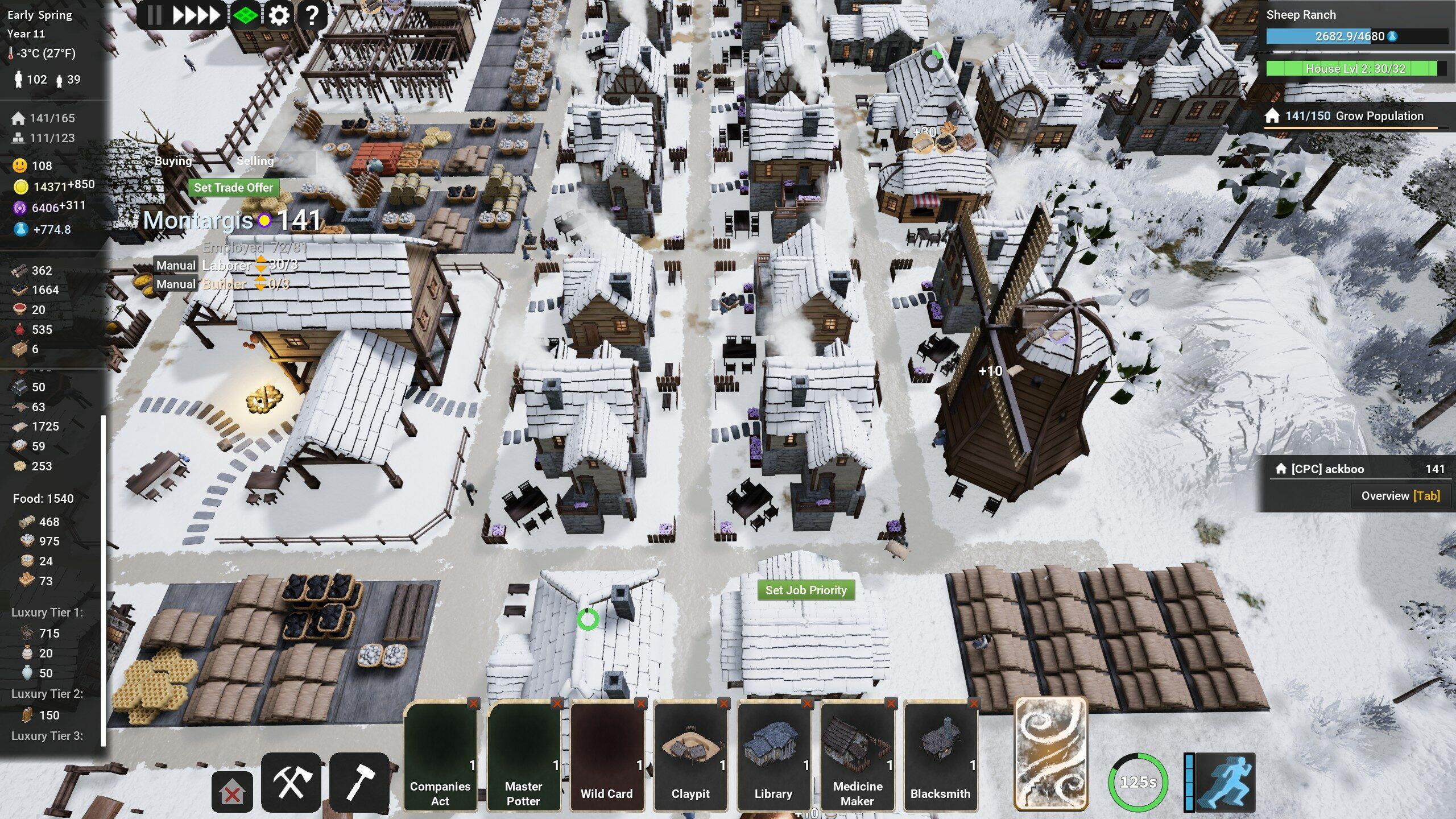 Quand la neige recouvre le village de son manteau blanc, il faut… surveiller le stock de charbon comme un gros chacal. Sans chauffage, les habitants quittent la ville ou tombent malades, tels les ingrats qu'ils sont.