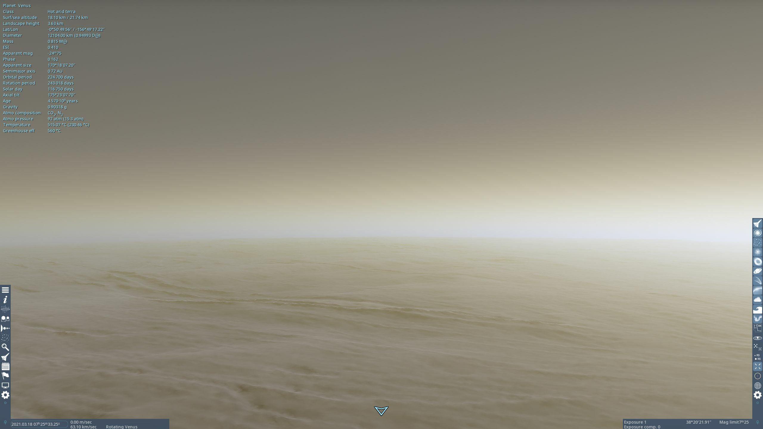Anecdote spatiale : les Russes ont été les seuls à poser une sonde sur Vénus. Venera 7, arrivée sur place le 15 décembre 1970, a émis pendant 23 minutes avant d'être broyée par la pression atmosphérique. Elle aurait reporté une température de 475 °C et déclaré « ouille ».