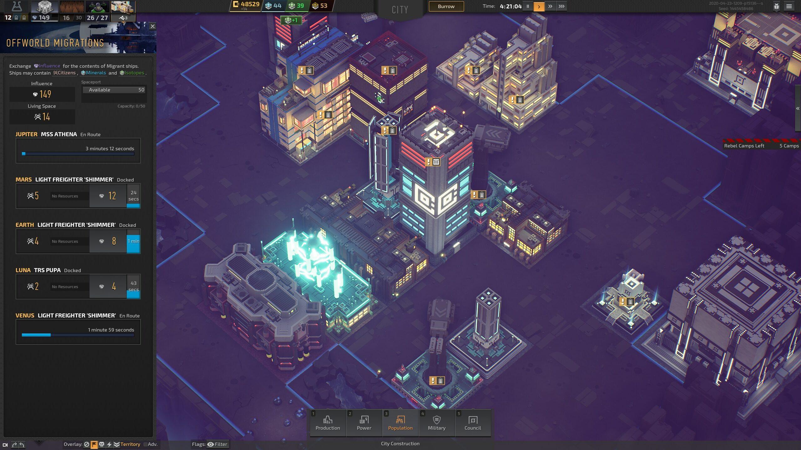 La grande idée du jeu : permettre d'aménager l'intérieur des bâtiments pour spécialiser les usines.