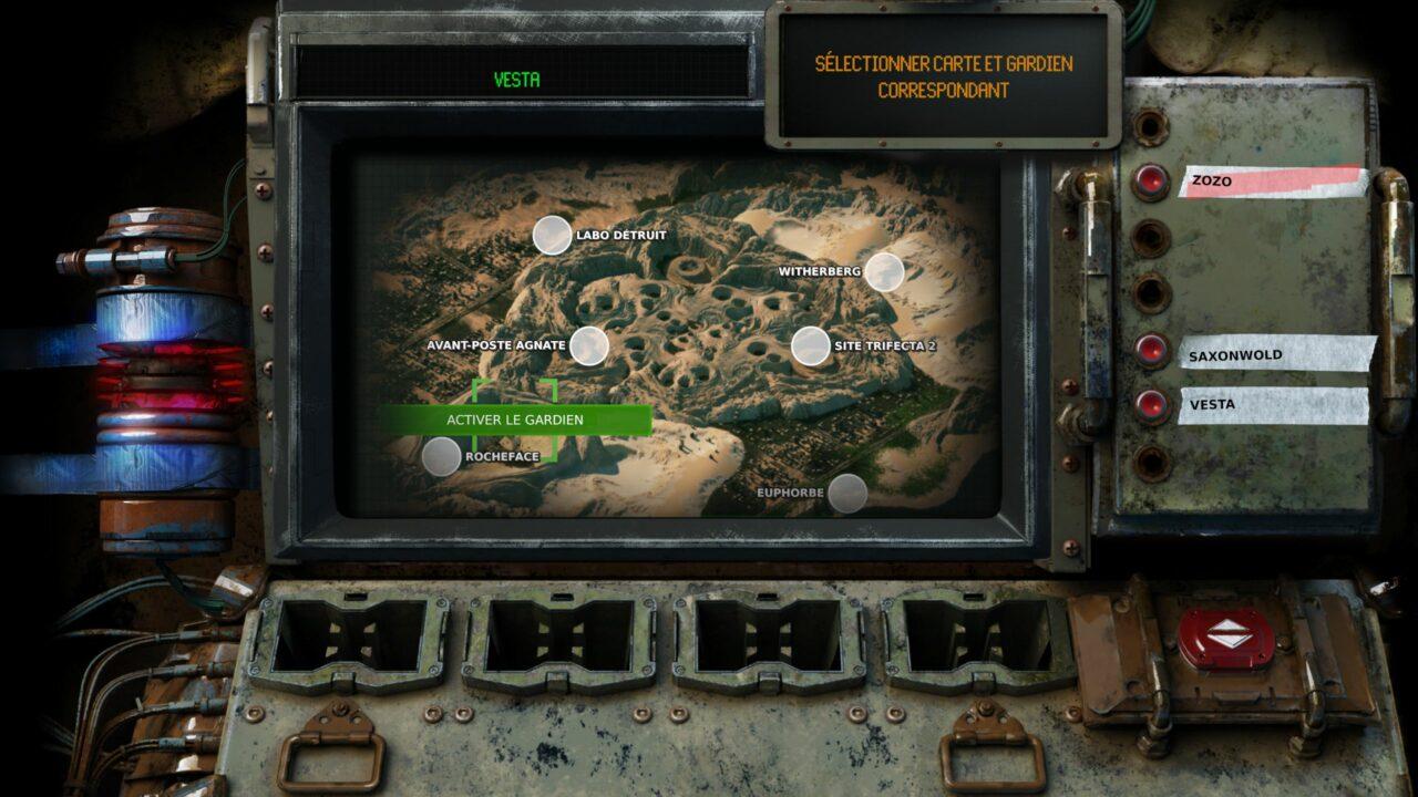 Toute la partie visuelle du jeu est un bonheur, jusqu'à son interface clairement inspirée par Fallout.