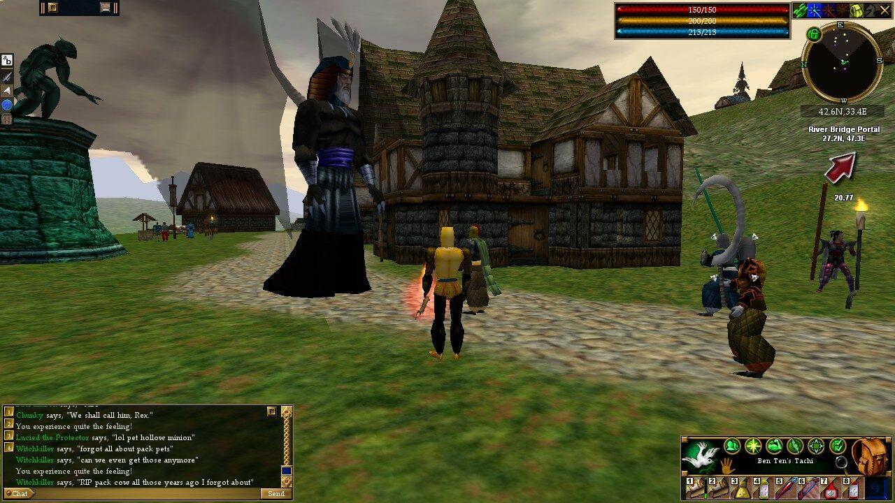Avec ses «World Events», Asheron's Call (1999-2017) entretenait un aspect roleplay en permettant aux «maîtres du jeu» de contrôler des PNJ pour combattre les joueurs ou créer des intrigues.