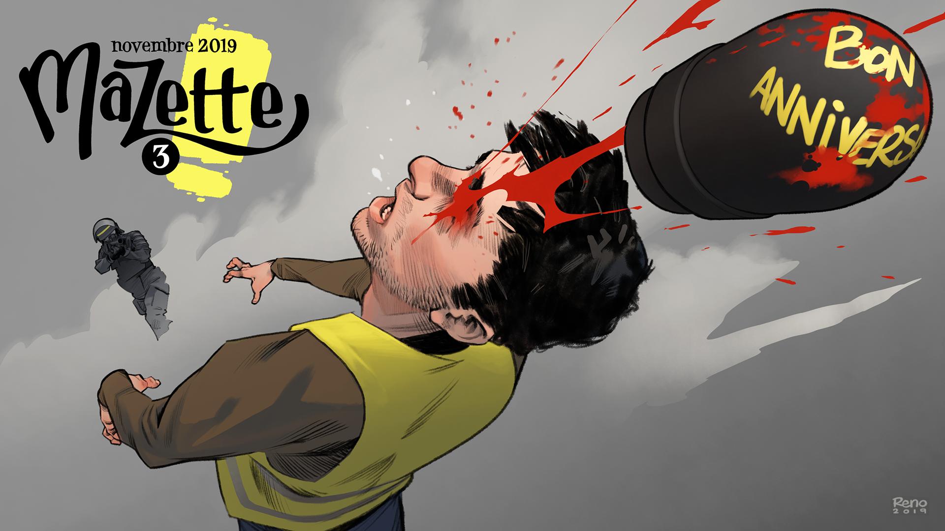Mazette, un web mensuel de BD satirique à 3 euros par mois.