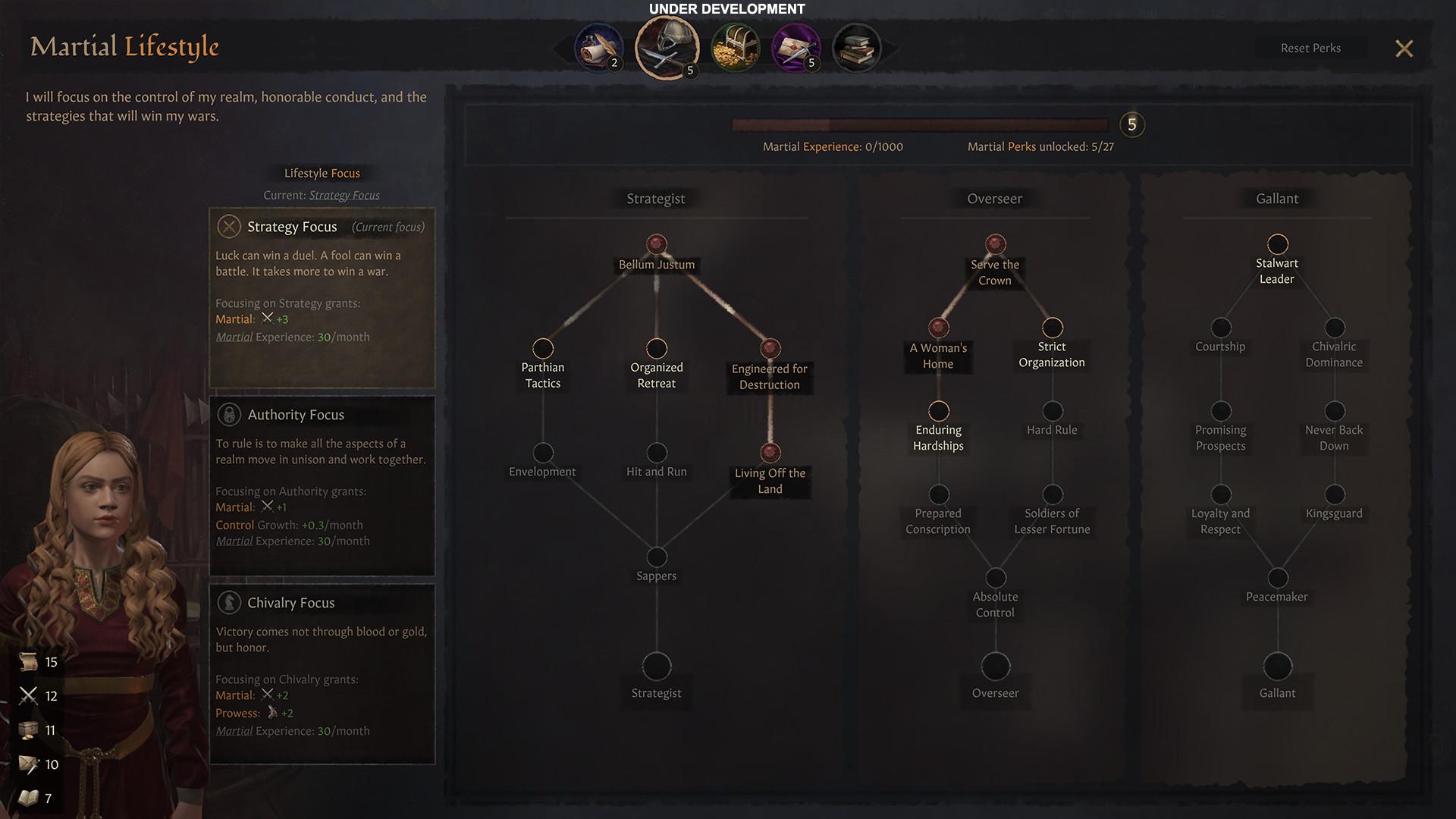 Le tout nouveau Focus Tree, bénéficiant d'une fenêtre plein écran, avec gestion des perks et des points d'XP, devrait renforcer le côté RPG du jeu.