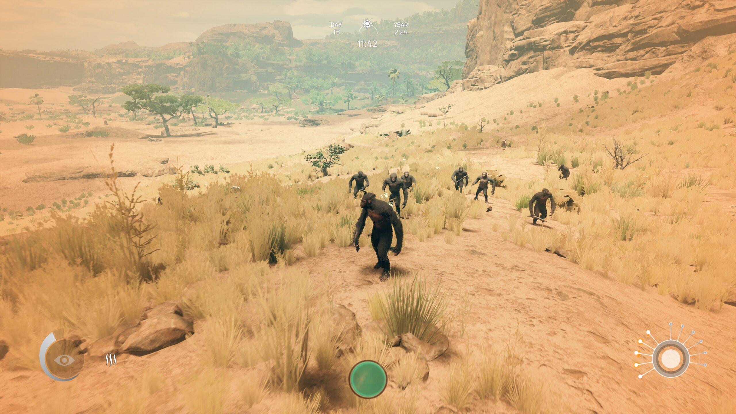 Mon gang et moi découvrant la savane. Je nous appelle la Chimpanzer Division.