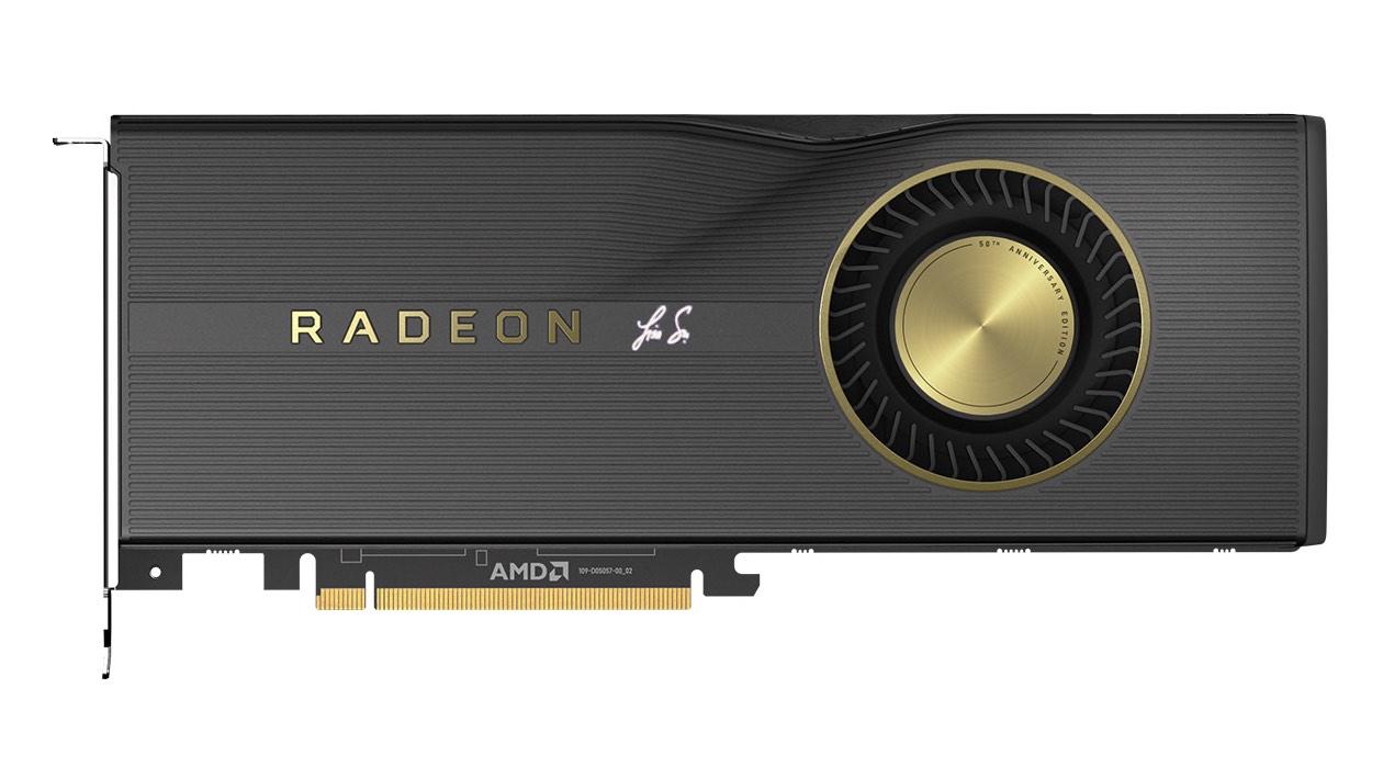 La Radeon RX 5700 XT anniversaire. Une signature, un peu de peinture dorée, quelques MHz et 50 $ de plus.