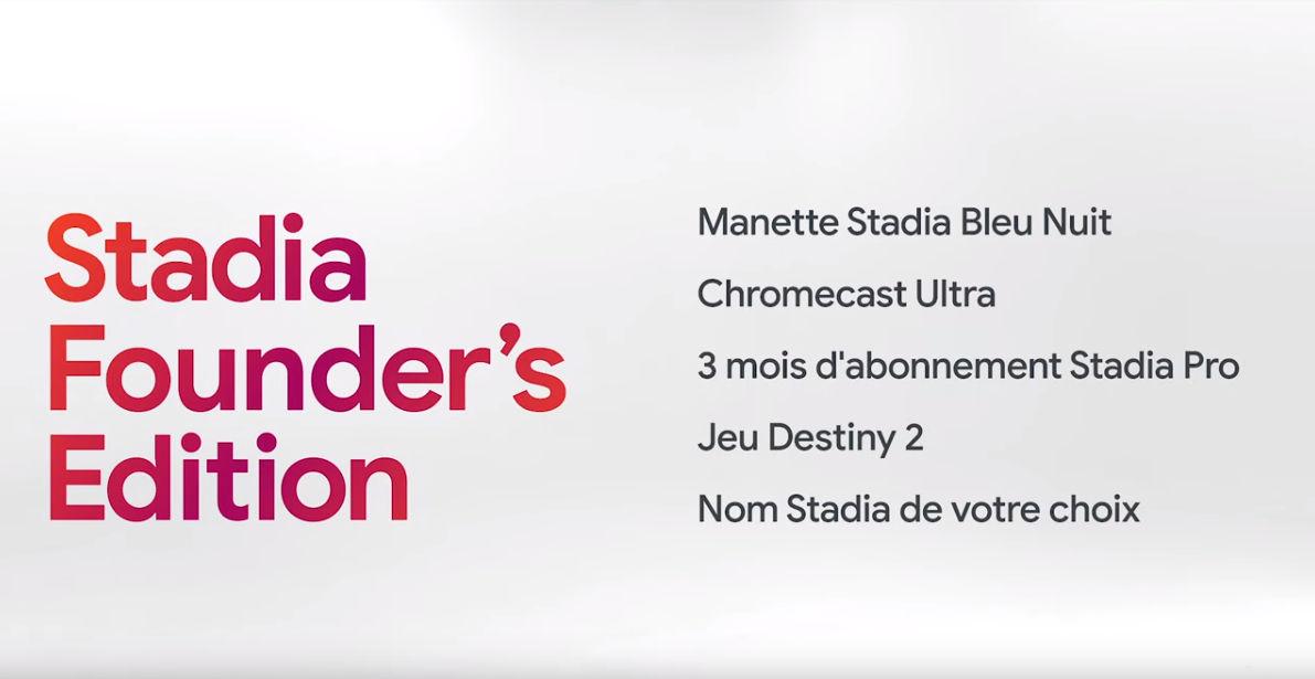 Le pack Founder's Edition, seul moyen d'accéder à Stadia au lancement.