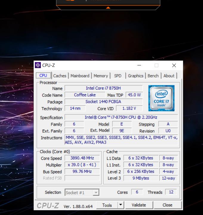 Au lancement de CPU-Z, les ventilateurs accéléraient au maximum avec la première version du logiciel.