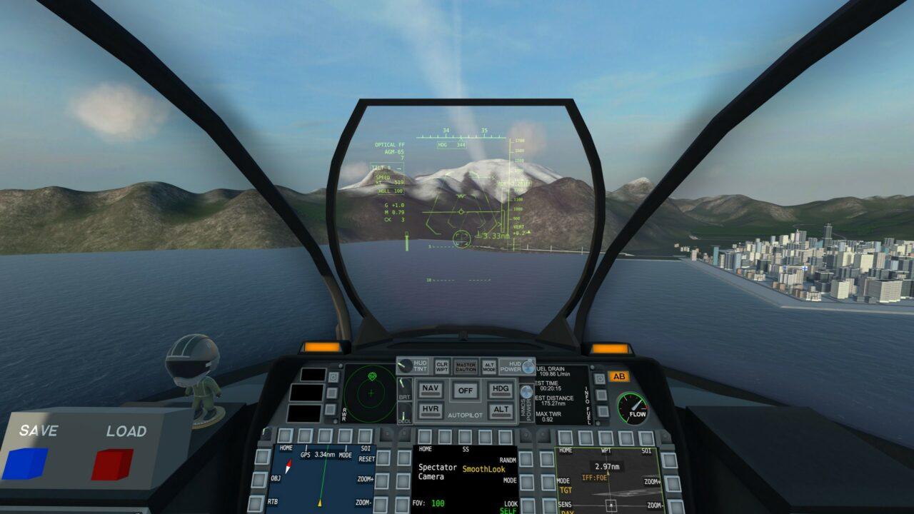 Le jeu est très bien adapté à la faible résolution des casques VR, avec un cockpit lisible et des ennemis signalés grâce à un système d'étiquette semblable à celui de DCS.