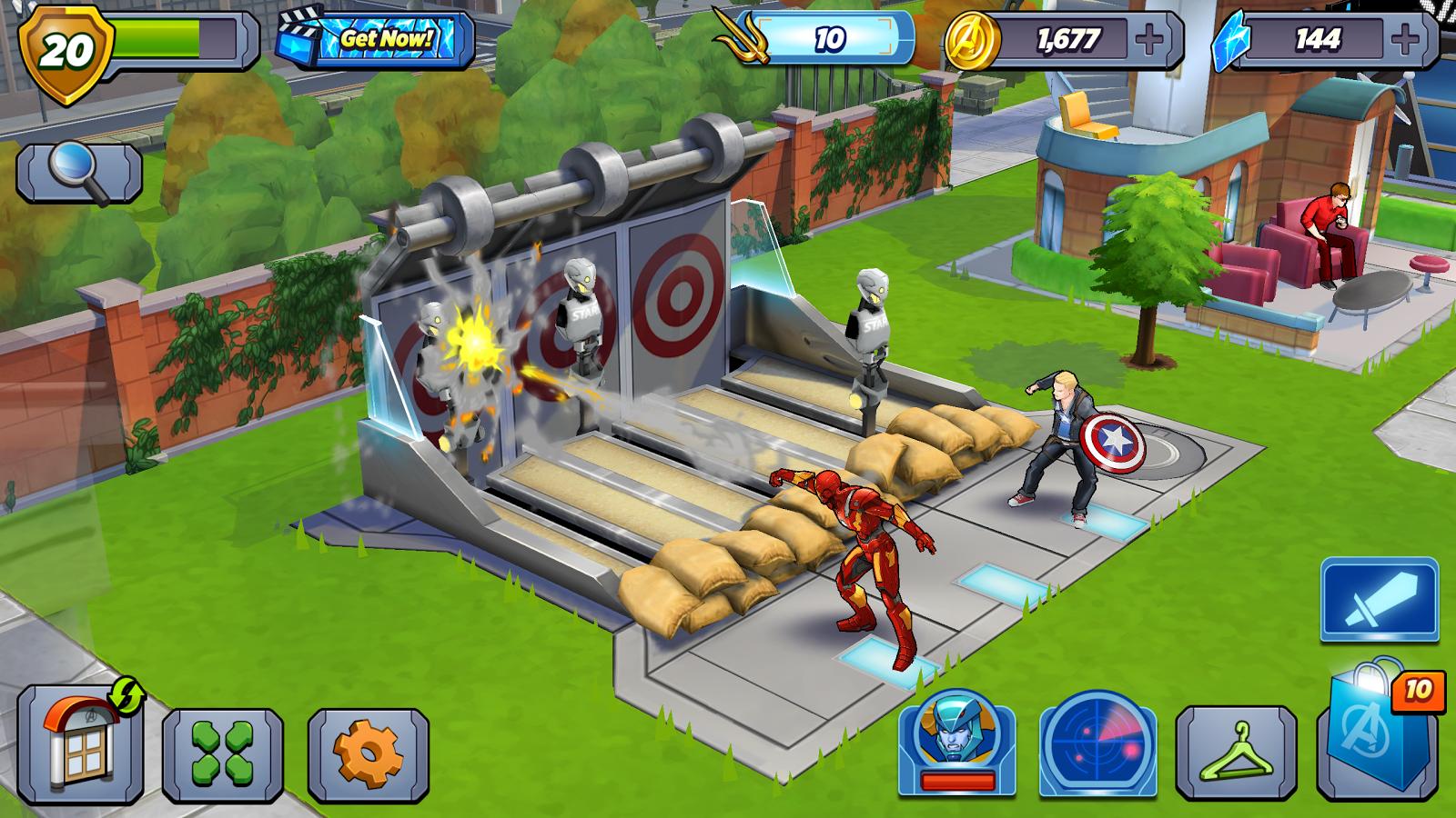 Il y a même une petite terrasse pour siroter son cocktail, sympa l'Avengers Academy.