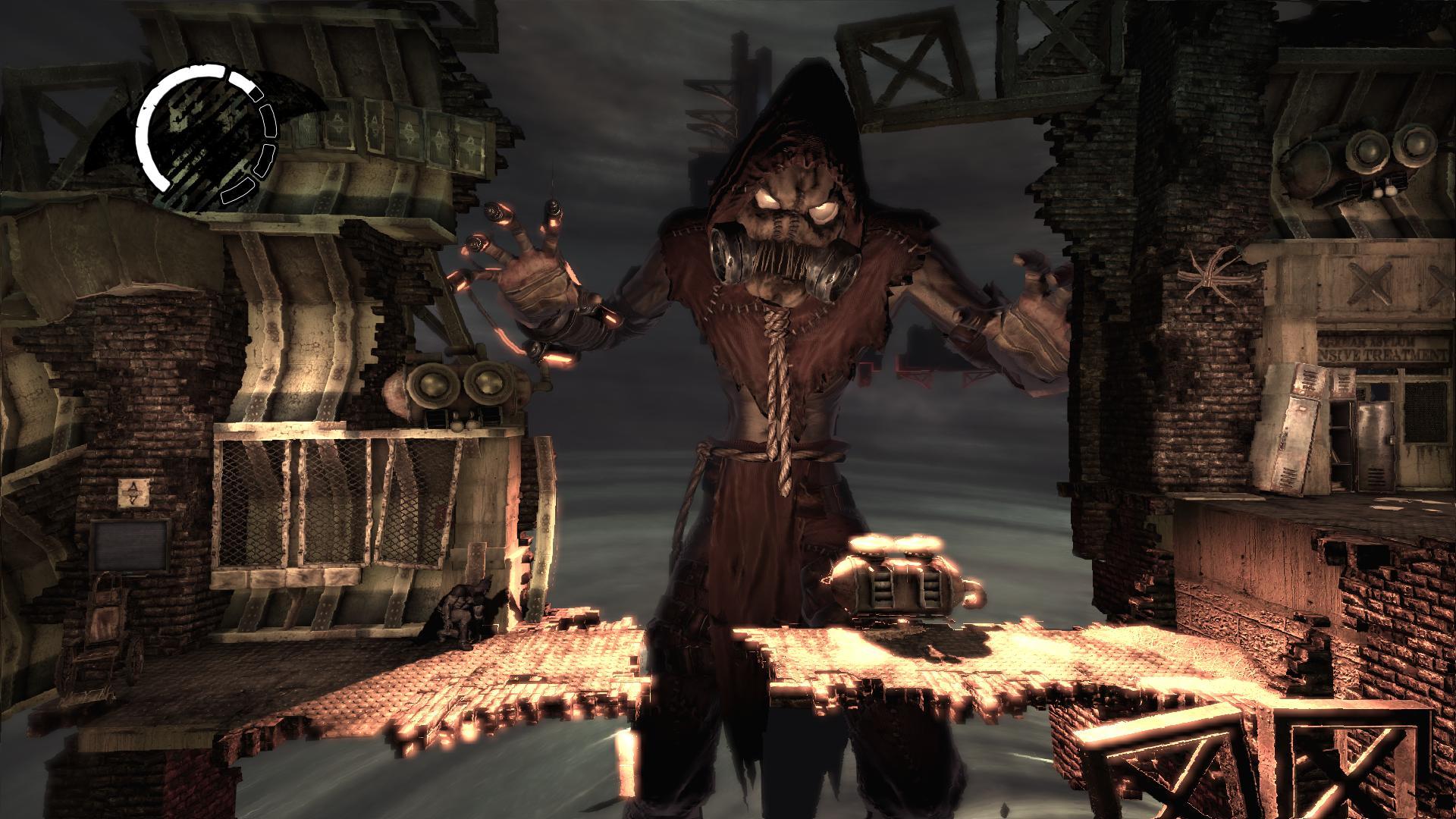 Moment fort d'Arkham Asylum : les niveaux du Scarecrow sont de merveilleux petits cauchemars ludiques.
