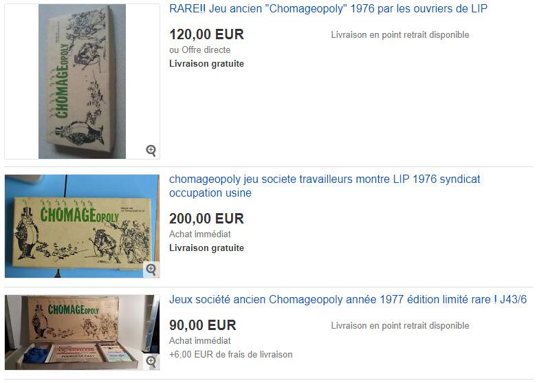 Bien sûr, eBay propose aussi quelques exemplaires du Chômageopoly. (Photo : Capture d'écran www.ebay.fr)