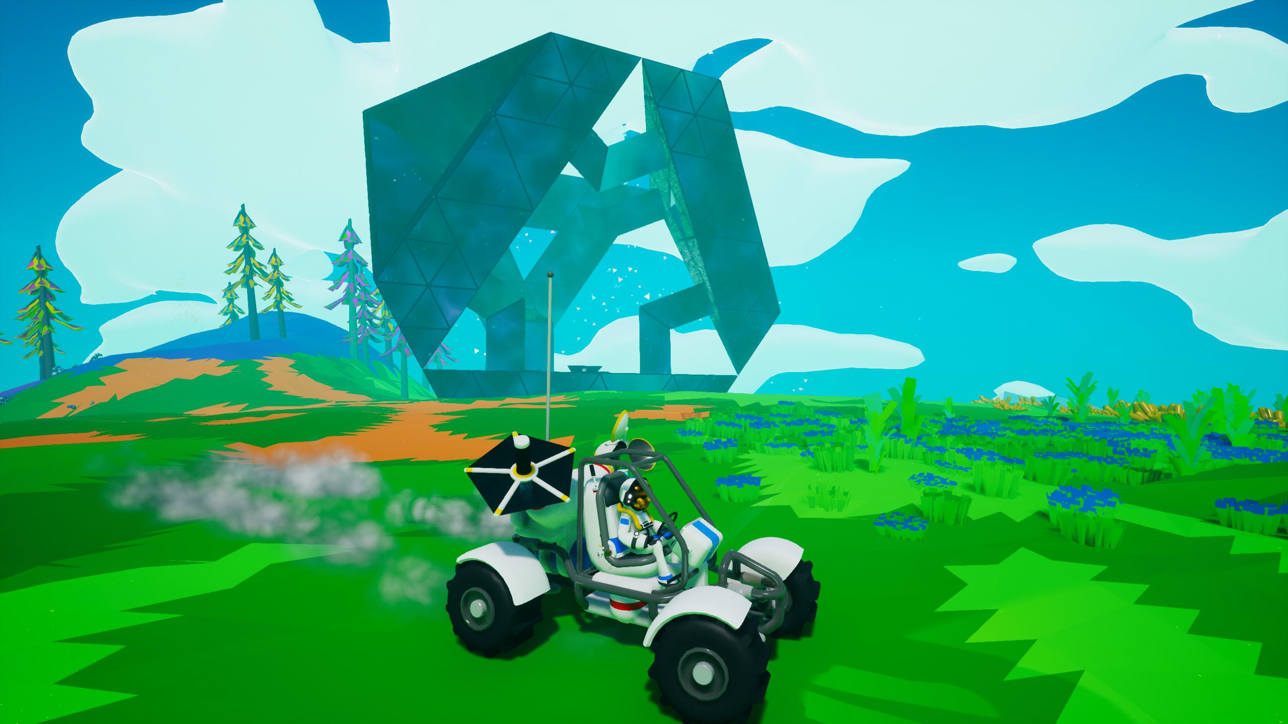 Bien sûr, il y a des objets et bâtiments mystérieux à activer, mais ne vous attendez pas à un gros scénario. Astroneer est plutôt un jeu de solitude contemplative.