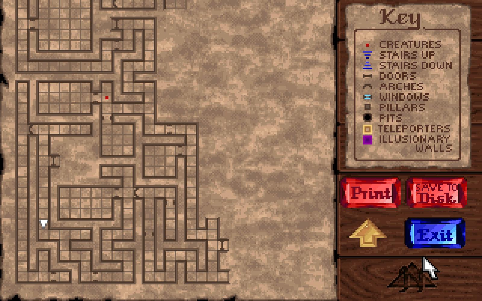Tous les niveaux de Dungeon Hack ressemblent à ça. J'espère que vous aimez les spaghettis.