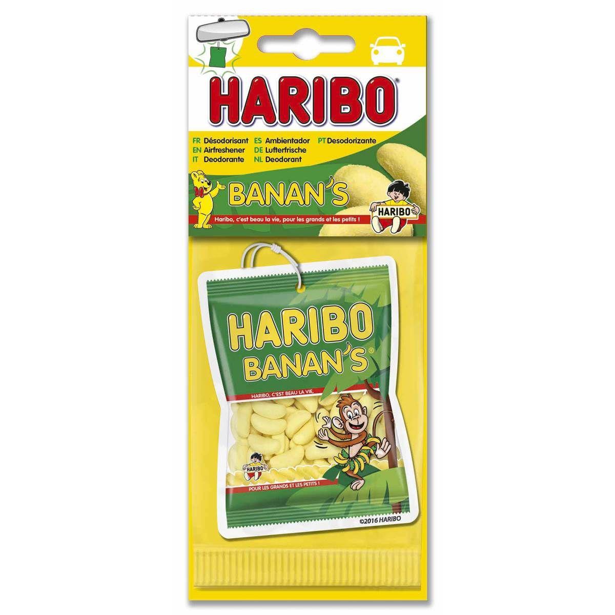 Les désodorisants pour voiture Haribo, environ 3 euros et un bon saignement de nez. Existe aussi en parfum marshmallow et Tagada.