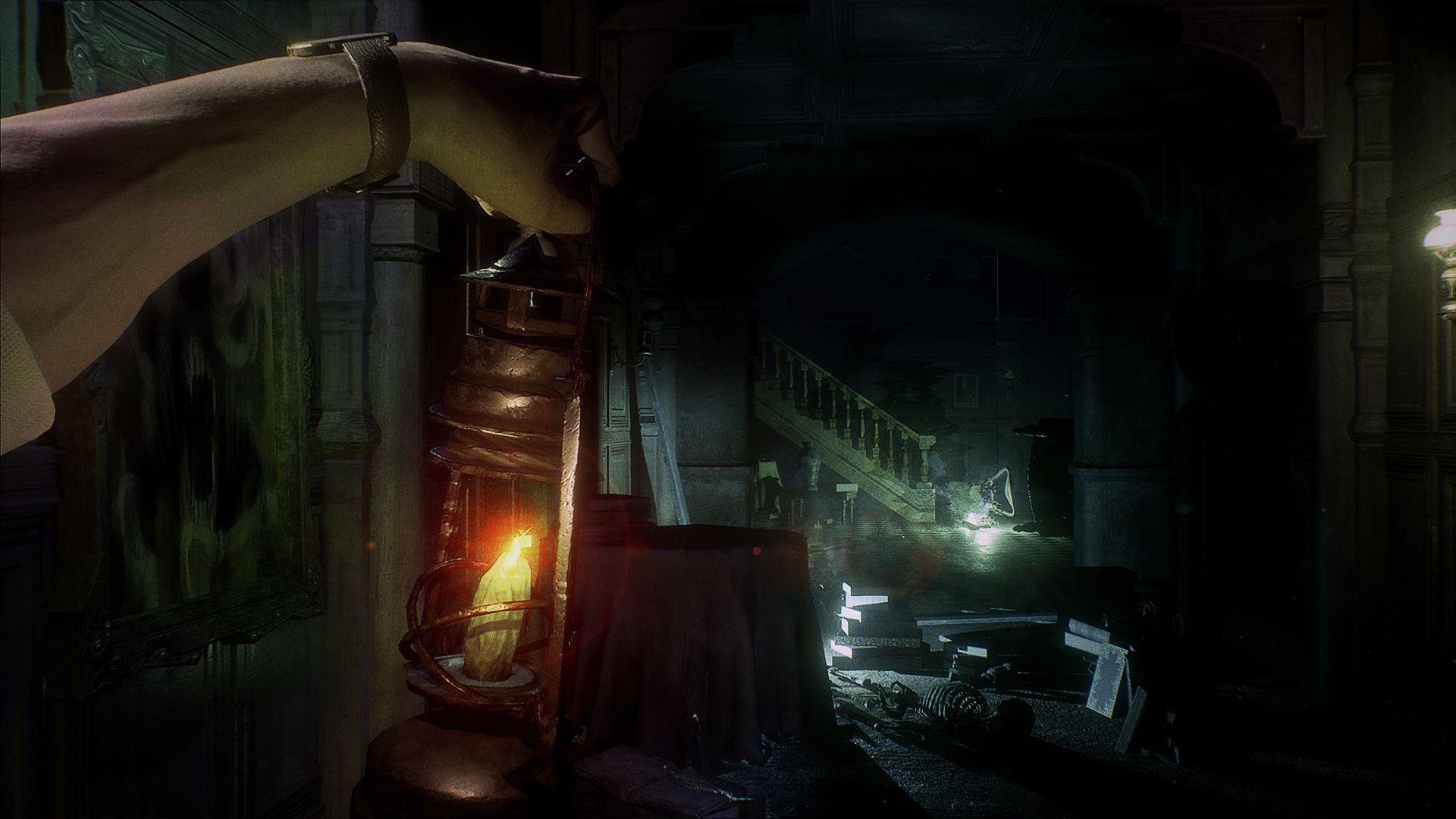 Pas d'armes dans la démo que nous avons terminée, mais une lanterne pour s'éclairer. Et on était bien contents de l'avoir.