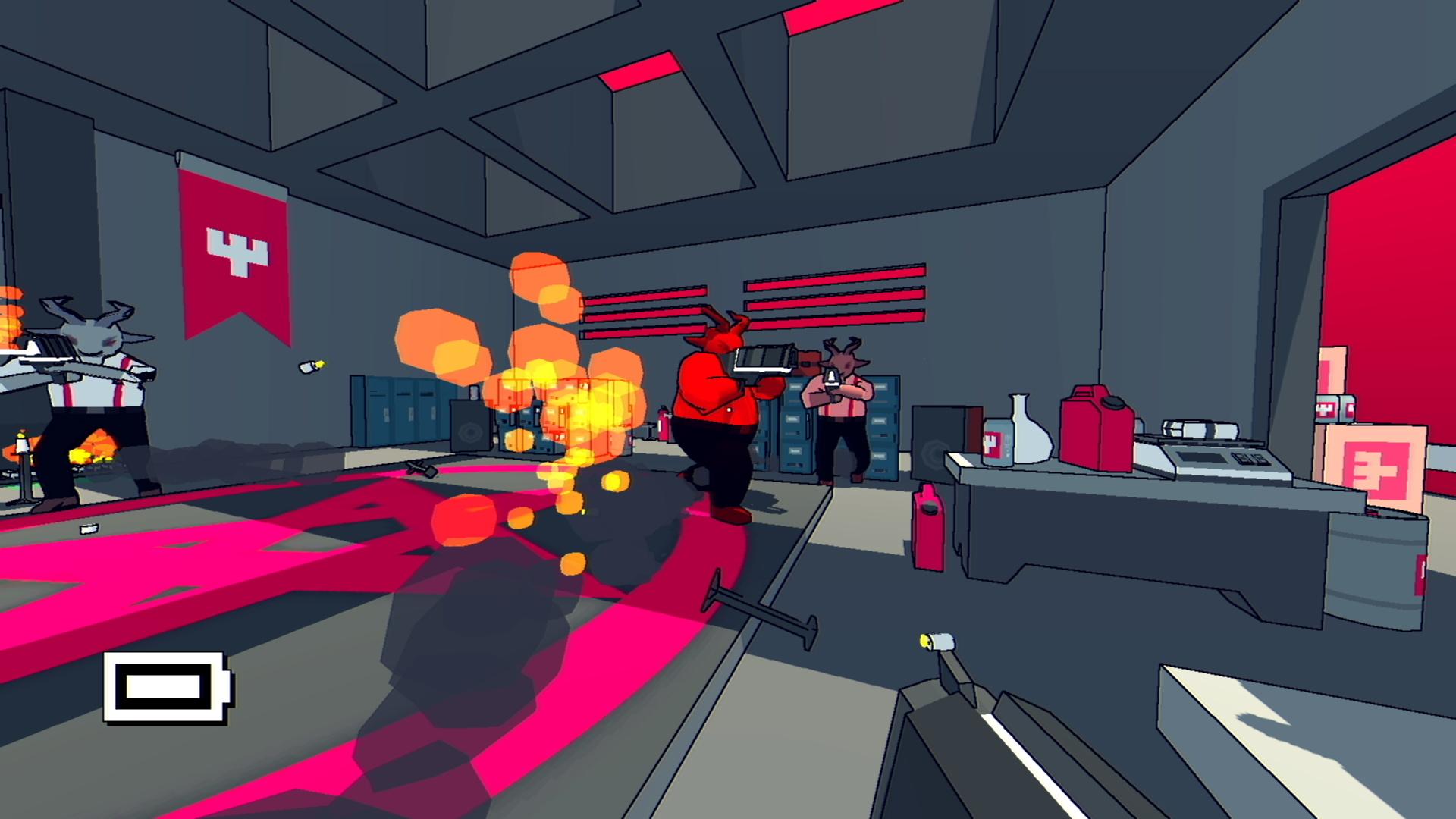 Oui, là j'affronte trois boucs géants armés de bazooka laser. Ça n'a rien à voir, mais je trouve qu'on ne parle pas assez des ravages du LSD dans le monde des développeurs de jeu vidéo.