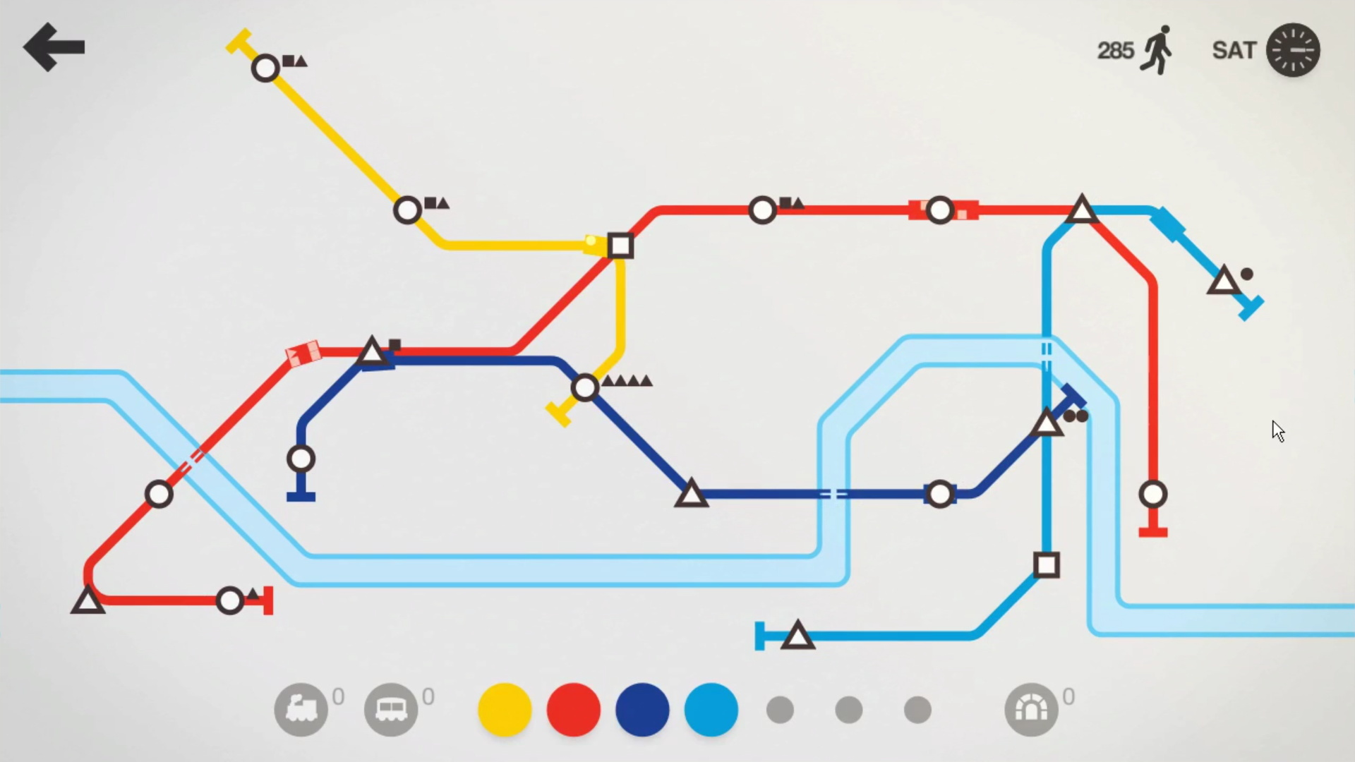 J'aime toujours autant Mini Metro, mais il est dommage que même sur des titres aussi légers, le flux vidéo de Blacknut plafonne à 30 FPS.