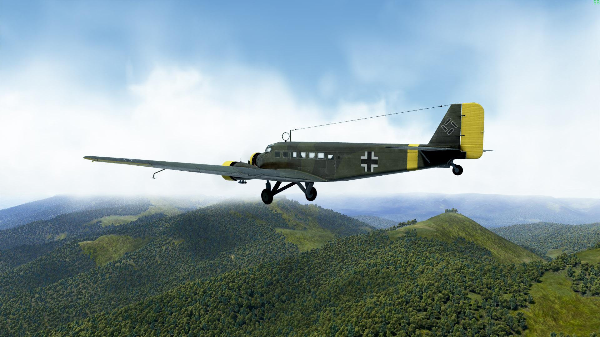 Vous êtes pacifiste (et patient)? Plutôt que des bombes, vous pouvez larguer des parachutistes, ou des caisses, depuis un Ju-52.