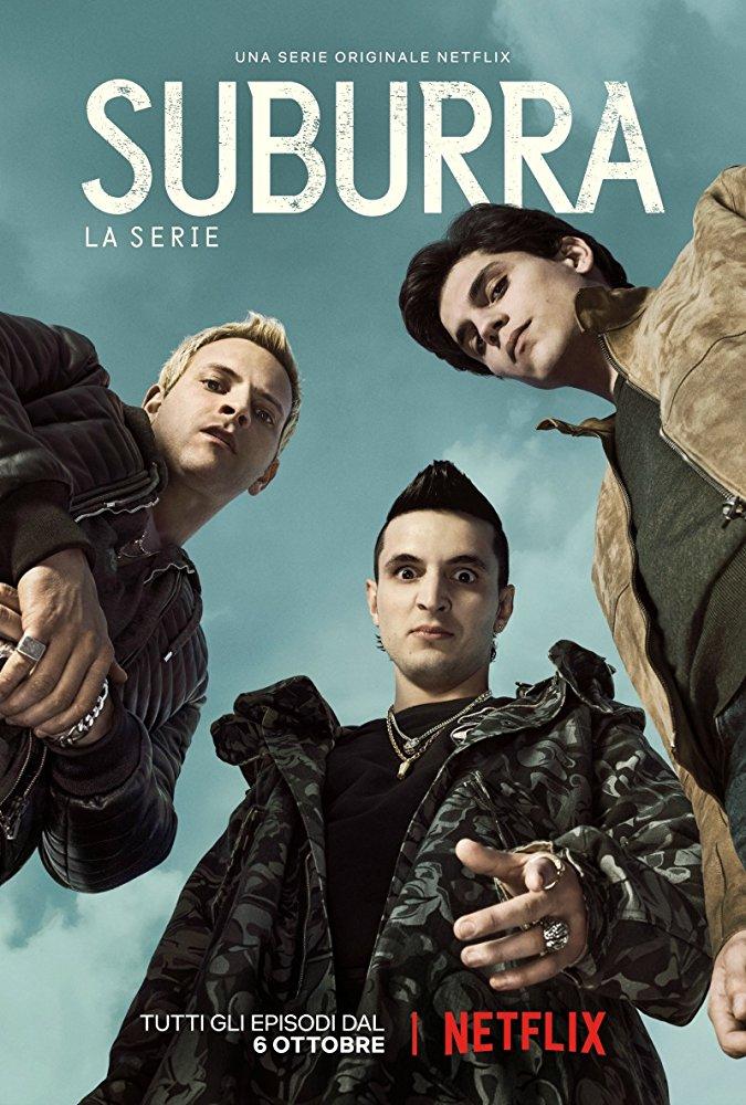 Suburra, une série télévisée en 10 épisodes (première saison) disponible sur Netflix.