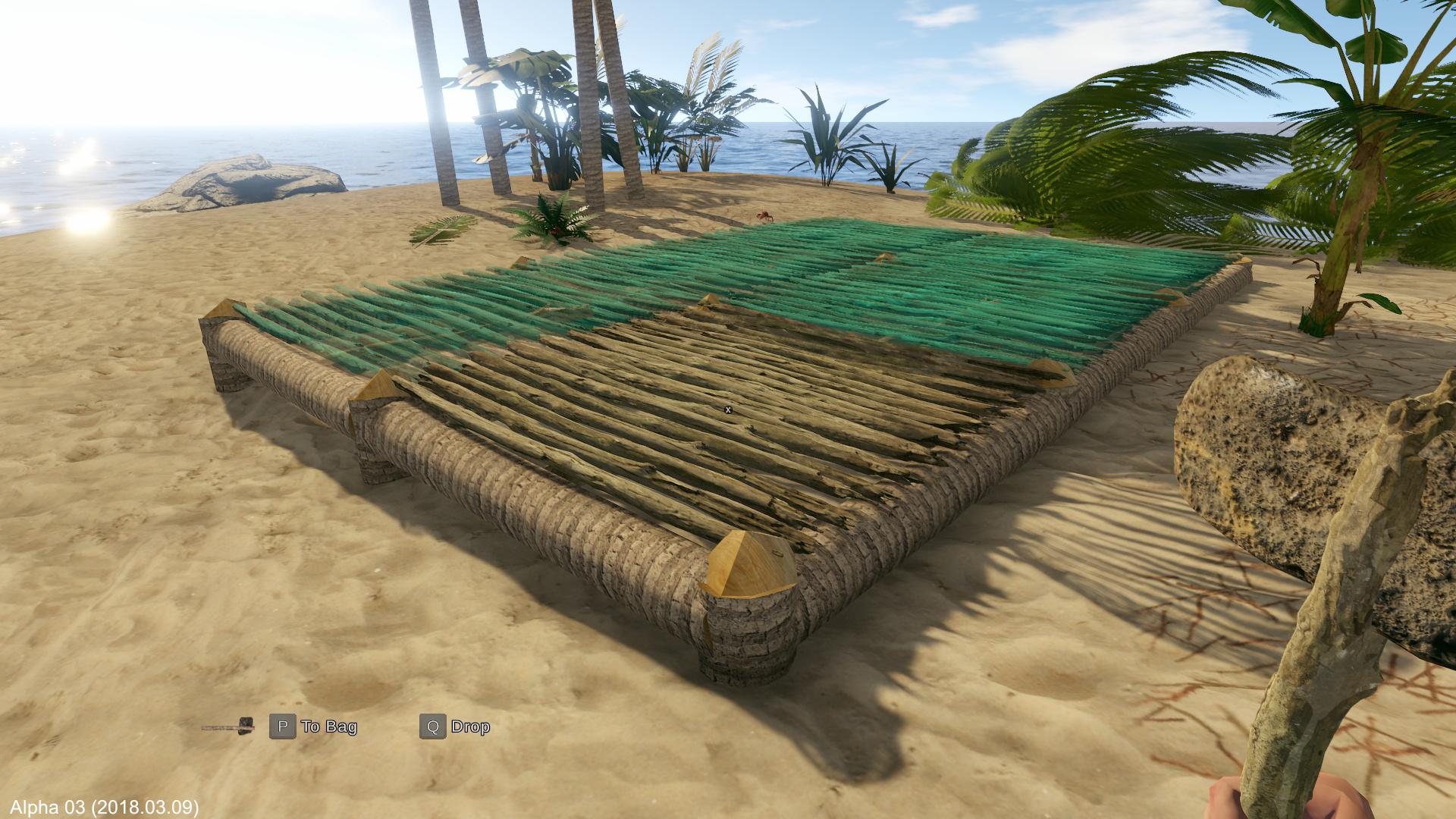 Construire ces fondations m'a demandé quelque chose comme 500 clics de souris contre des troncs d'arbre. Je me suis fait un claquage de l'index avant d'abandonner le chantier.