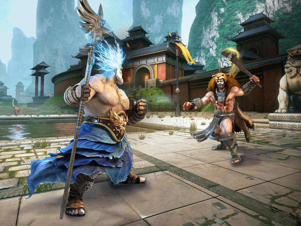 Gods of Rome, un jeu de combat par Gameloft. On ne dirait pas comme ça, mais le projet a commencé comme un jeu de management de foot. Et puis la machine Gameloft s'est mise en marche...